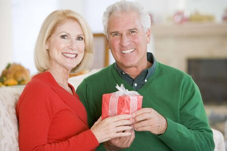 Mature Couple At Christmas Stock Photo - 3726521