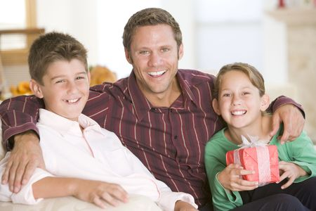 Family Portrait At Christmas Stock Photo - 3726398
