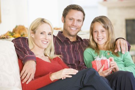 Portrait Of Family At Christmas Stock Photo - 3726463