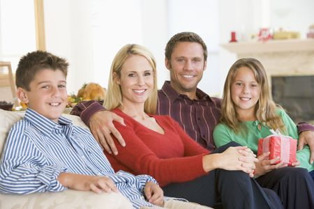 Portrait Of Family At Christmas Stock Photo - 3726474