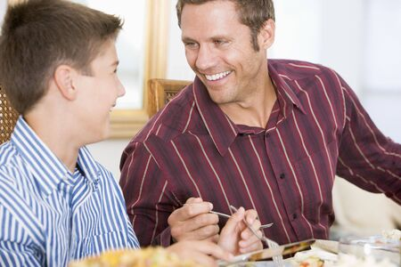 Father And Son At Christmas Dinner Stock Photo - 3726520