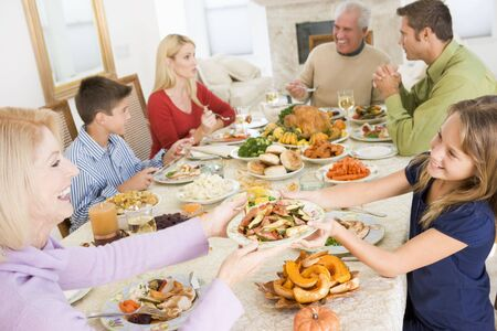 Family All Together At Christmas Dinner Stock Photo - 3726472