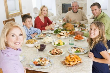 Family All Together At Christmas Dinner Stock Photo - 3726473