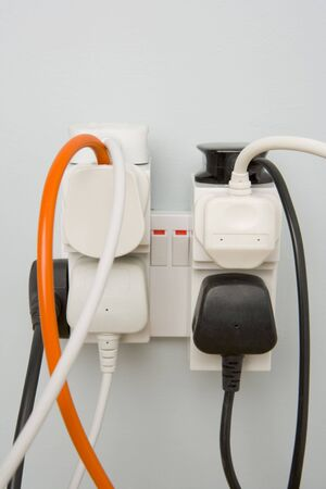 electric socket: Overloaded Outlet