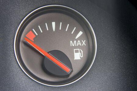 Fuel Gauge Reading Empty photo
