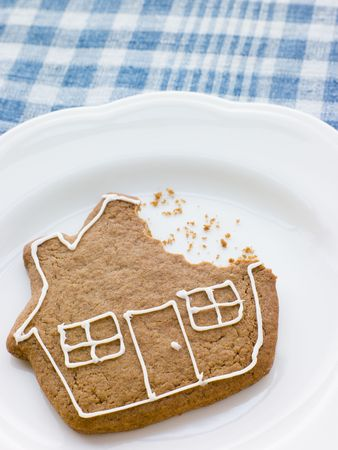 Close-Up Of Gingerbread House Stock Photo - 3712360
