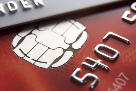 chip and pin: Close-Up Of Credit Cards