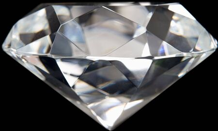 flawless: Close-Up Of Flawless Diamond Stock Photo