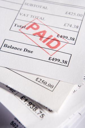 Las facturas pagadas Foto de archivo - 3712388