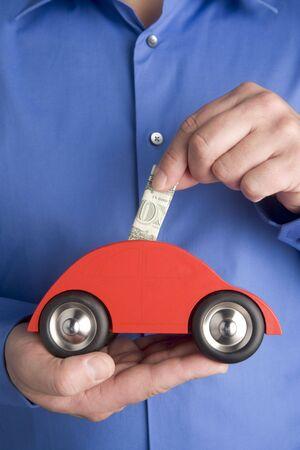 long term goal: Saving For A Car Stock Photo