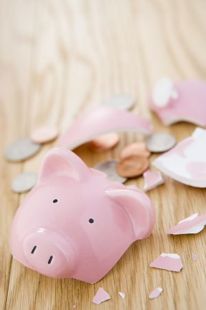 Smashed Piggy Bank photo