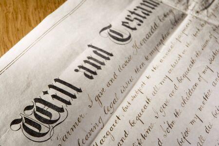 testament: Anticuado voluntad y testamento