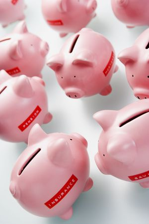 Accumulation Of Piggy Banks Stock Photo - 4497595