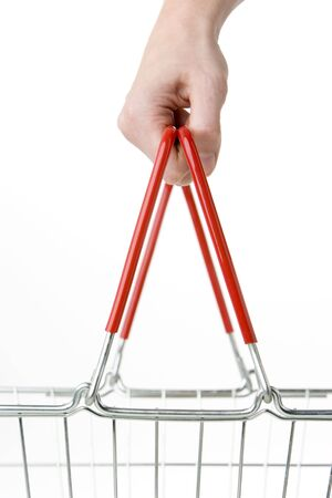 shopping basket: Hand Holding Shopping Basket