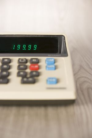 the outdated: Outdated Calculator Stock Photo