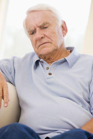 Senior Man Sitting On Couch Stock Photo - 3723266