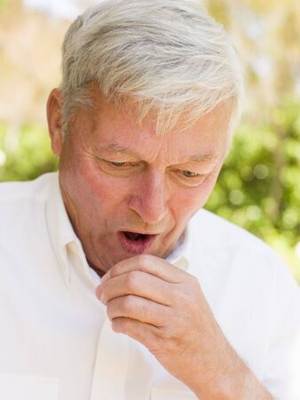 coughing: Man Coughing