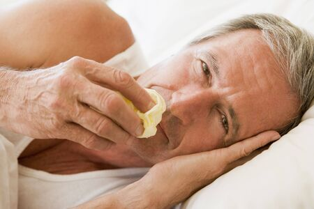 hayfever: Man Blowing His Nose