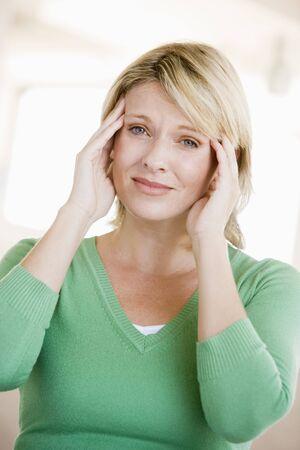 Woman With A Headache photo