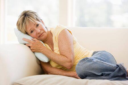 poorly: Woman Feeling Unwell