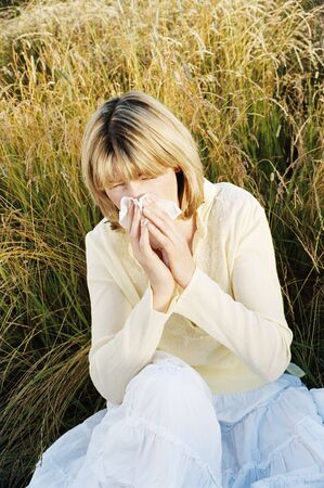 hayfever: Woman Blowing Her Nose