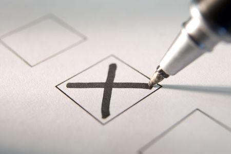 formality: Marking A Tick Box