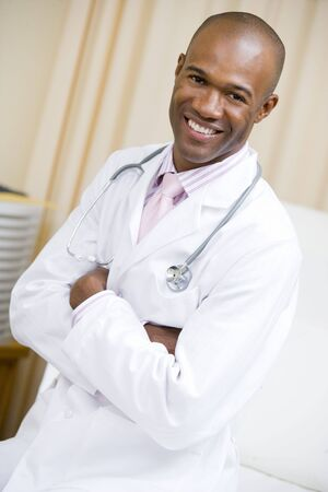 A Doctor Sitting On A Hospital Bed Stock Photo - 3723687