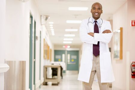 Doctor Standing In A Hospital Corridor Stock Photo - 3723660