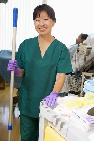 ordelijk: Een ordelijke collectieve De Verdieping in een ziekenhuis Ward