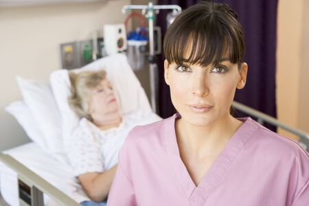 Nurse Standing In Patients Room Stock Photo - 3723738
