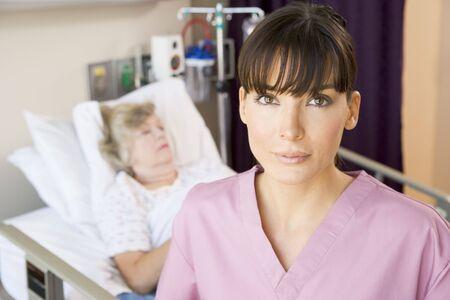 Nurse Standing In Patients Room Stock Photo - 3723738