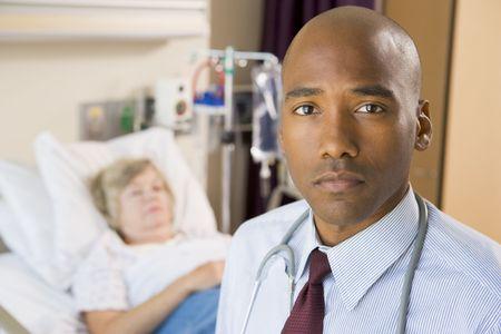 Doctor Standing In Patients Room Stock Photo - 3724332