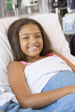 ragazza malata: Ragazza si trova in ospedale Archivio Fotografico