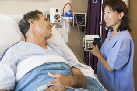 Doctor And Patient Talking To Each Other Stock Photo - 3724410
