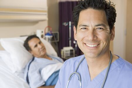 Doctor Smiling In Patients Room Stock Photo - 3723984
