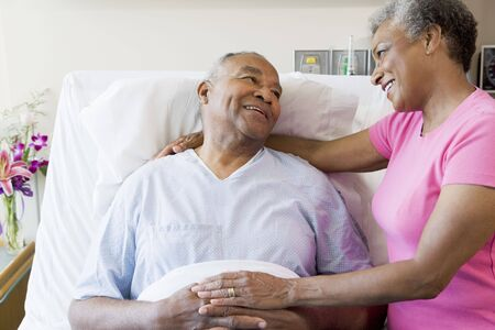 Senior Couple In Hospital Room photo