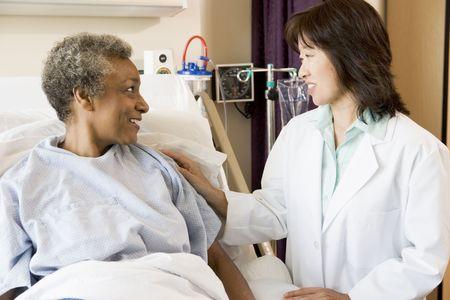Doctor Talking To Senior Woman Stock Photo - 3724627
