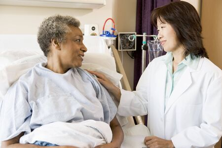Doctor Talking To Senior Woman Stock Photo - 3724442