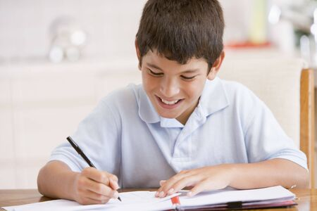 Boy Doing His Homework Stock Photo - 3727977