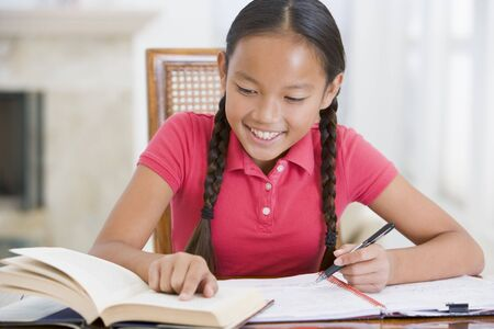 Girl Doing Her Homework Stock Photo - 3728125