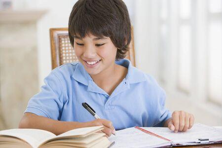 11 year old: Boy Doing His Homework