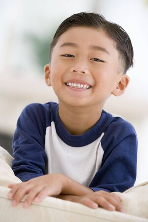 elementary age boy: Portrait Of Young Boy Stock Photo