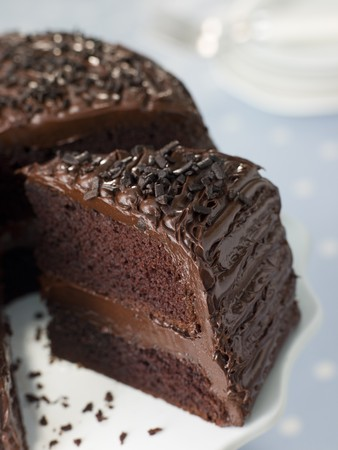 fudge: Slice Of Chocolate Fudge Cake