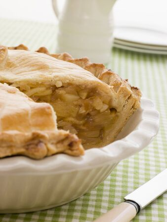 Deep Apple Pie In A Dish Stock Photo - 4422442