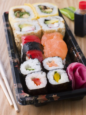 Take Away Sushi Tray photo
