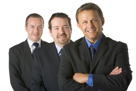 Group Of Businessmen Smiling  photo