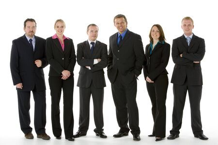 Group Of Business People Standing In A Line  photo