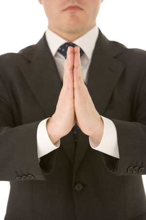 Businessman With His Hands Together Stock Photo - 4444486