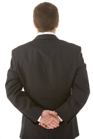 Businessman Holding His Hands Behind His Back Stock Photo - 4444772