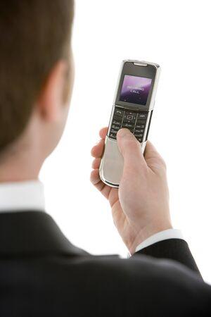 Businessman Text Messaging  photo
